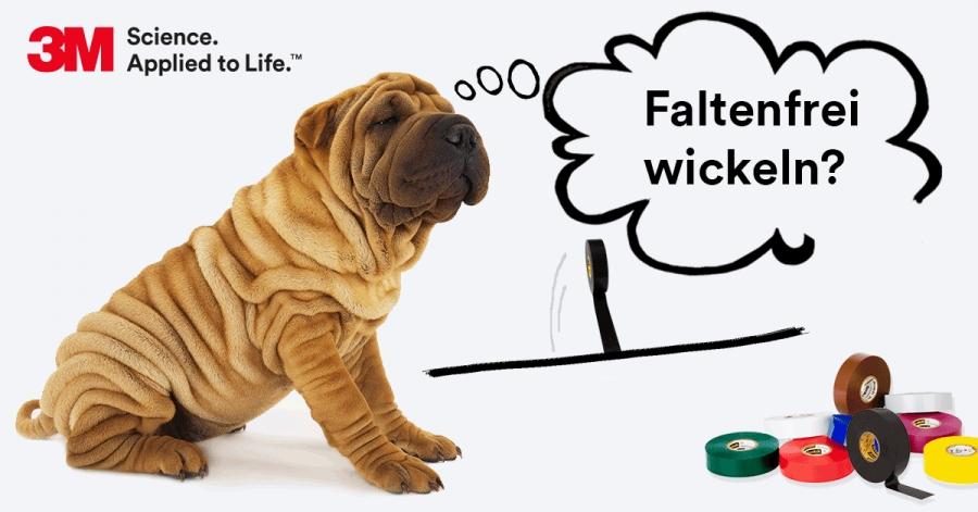 Faltenfrei wickeln_3M Kabelmantelreapratur